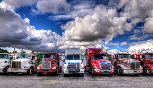 Vehicle tracking for tractor trailers